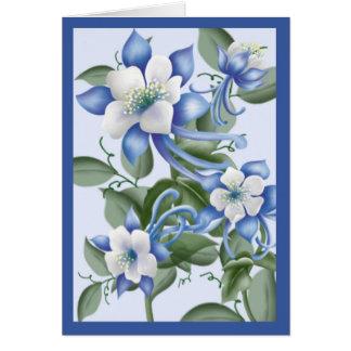 Cartão Columbines azul