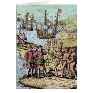 Cartão Columbo em Hispaniola