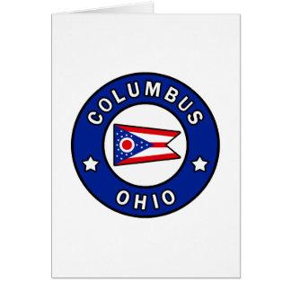 Cartão Columbo Ohio