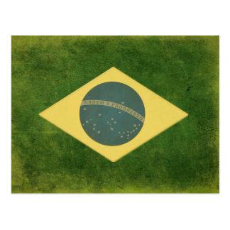 Cartão com a bandeira brasileira legal