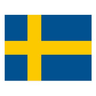 Cartão com a bandeira da suecia