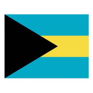 Cartão com a bandeira de Bahamas