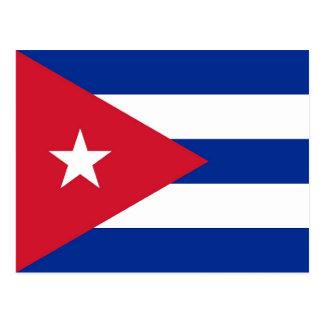 Cartão com a bandeira de Cuba