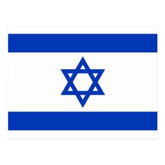 Cartão com a bandeira de Israel