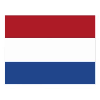 Cartão com a bandeira de Países Baixos
