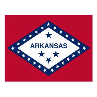 Cartão com a bandeira do estado de Arkansas - EUA