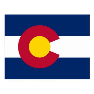 Cartão com a bandeira do estado de Colorado - EUA