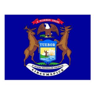 Cartão com a bandeira do estado do Michigan - EUA