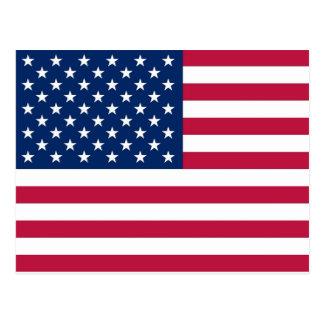 Cartão com a bandeira dos EUA