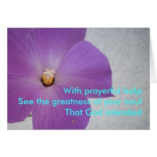 Cartão Com ajuda Prayerful