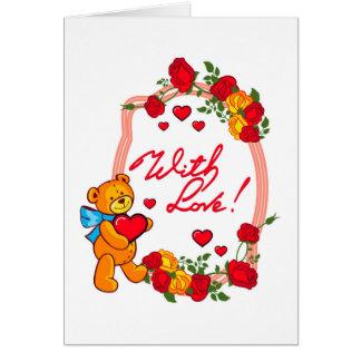 Cartão Com amor!