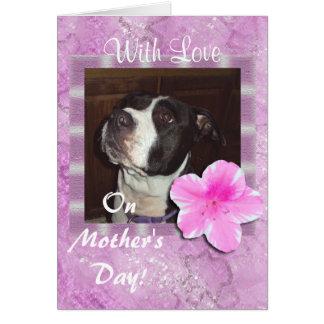 Cartão Com amor no dia das mães
