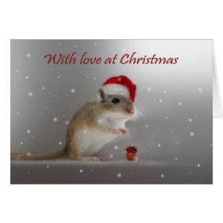 Cartão Com amor no Natal