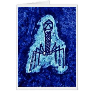 Cartão com Batik do vírus do fago