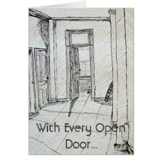 Cartão Com cada estar aberto…