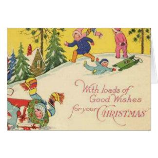 Cartão Com cargas de bons desejos para seu Natal