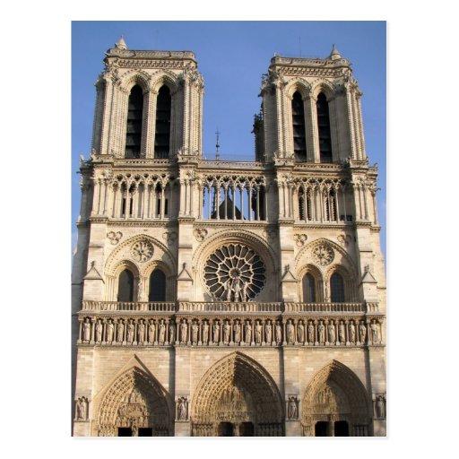 Cartão com catedral do Notre Dame de Paris Cartoes Postais