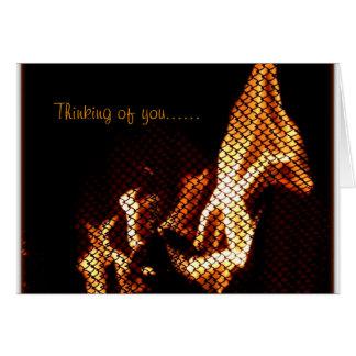 Cartão com chamas interessantes