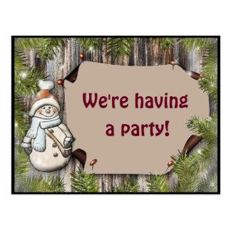 Cartão com convite do partido adorável do boneco