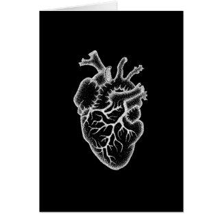 Cartão com coração do vintage