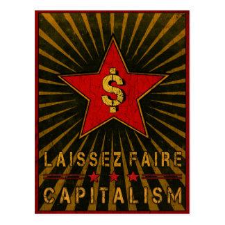 Cartão com cumprimentos do capitalismo de Laissez
