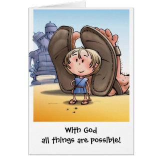 Cartão Com deus todas as coisas são possíveis!