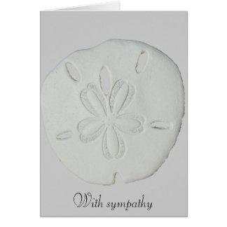 Cartão Com dólar de areia da simpatia