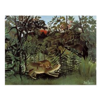 Cartão com fome do leão de Rousseau