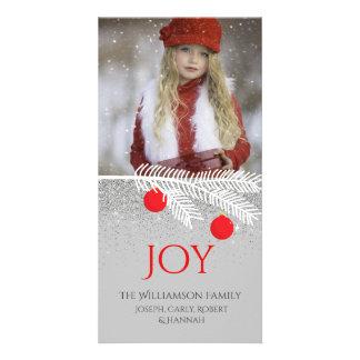 Cartão com fotos à moda do feriado da alegria do