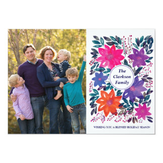 Cartão com fotos abençoado do feriado do papel da