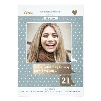 Cartão com fotos adulto da mulher | do aniversário convite 12.7 x 17.78cm