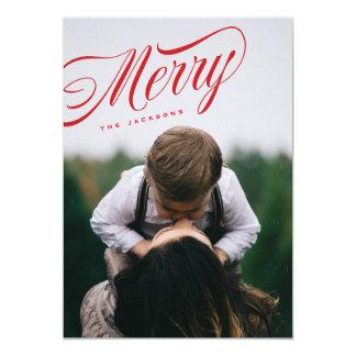 Cartão com fotos alegre angular do feriado do