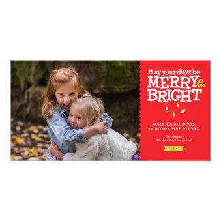 Cartão Cartão com fotos alegre & brilhante das luzes de