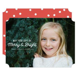 Cartão com fotos alegre & brilhante do feriado convite 12.7 x 17.78cm