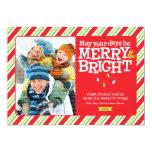 Cartão com fotos alegre & brilhante Groupon do Convite