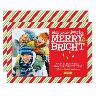 Cartão com fotos alegre & brilhante Groupon do Convite 12.7 X 17.78cm