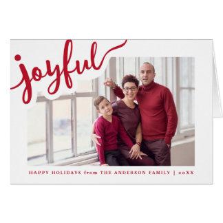 Cartão com fotos alegre de   boas festas