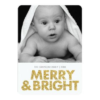 Cartão com fotos alegre do brilho-olhar - cantos convites personalizados