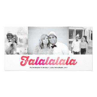 Cartão com fotos alegre do feriado do divertimento cartão com foto