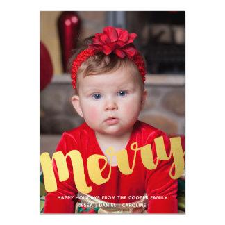Cartão com fotos alegre do feriado do Natal do