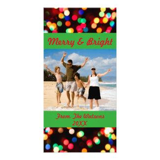 Cartão com fotos alegre e brilhante cartão com foto