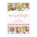 Cartão com fotos alegre e brilhante do feriado da