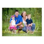 Cartão com fotos alegre e brilhante do feriado de convite