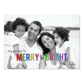 Cartão com fotos alegre e brilhante do feriado de convite personalizado