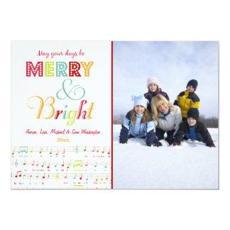 Cartão com fotos alegre e brilhante do feriado do convite personalizados