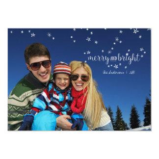 Cartão com fotos alegre e brilhante do feriado do convite 12.7 x 17.78cm