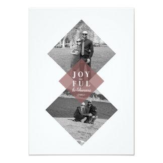 Cartão com fotos alegre geométrico moderno do
