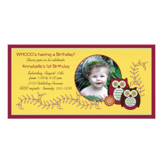 Cartão com fotos animador do primeiro aniversario