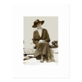 Cartão com fotos antigo da fotografia alguma ocasi cartão postal