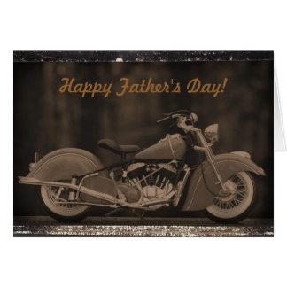 Cartão com fotos Antiqued da motocicleta